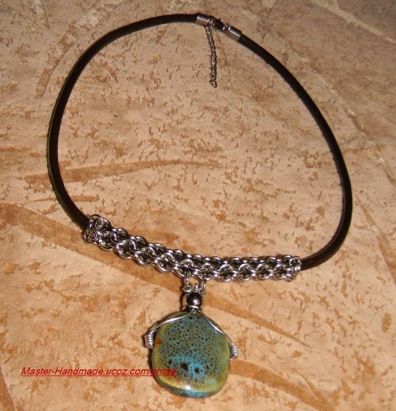 Ожерелье из металлических колец 47